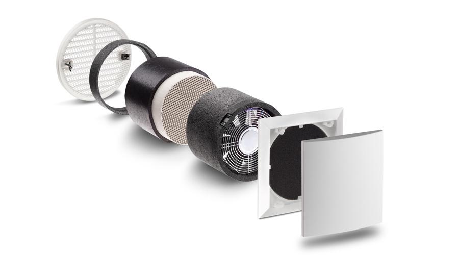 La ventilation simplifiée: un ventilateur récupérateur de chaleur mural